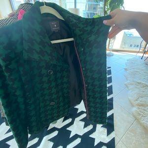Green & Black Houndstooth jacket